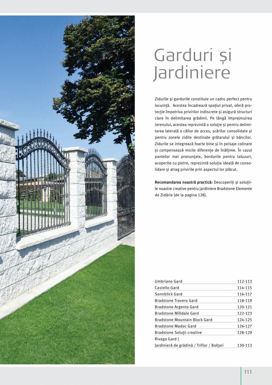 Pagina 113 - Idei pentru gradina 2017 SEMMELROCK STEIN+DESIGN Catalog, brosura Romana  x 25 cm cu...