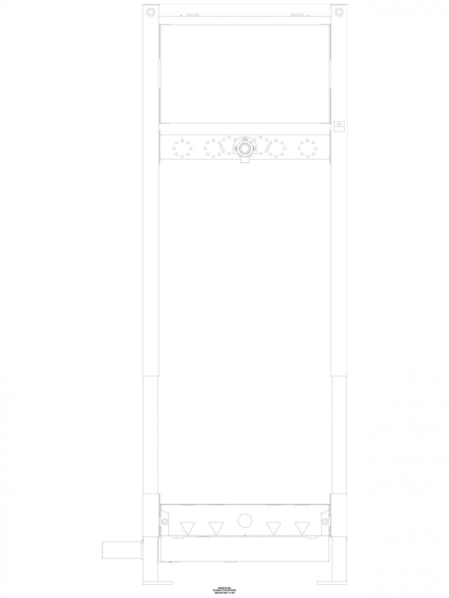 Pagina 1 - CAD-DWG Rigola dus in perete - vedere din fata GEBERIT Detaliu de produs Scurgere in...