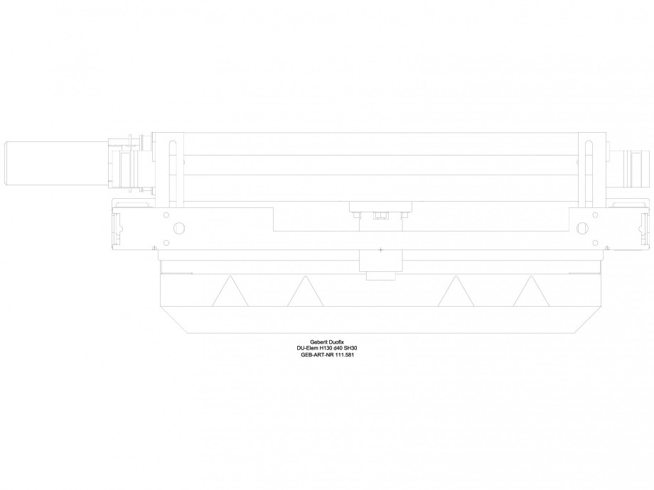 Pagina 1 - CAD-DWG Rigola dus in perete - vedere de sus GEBERIT Detaliu de produs Scurgere in perete...