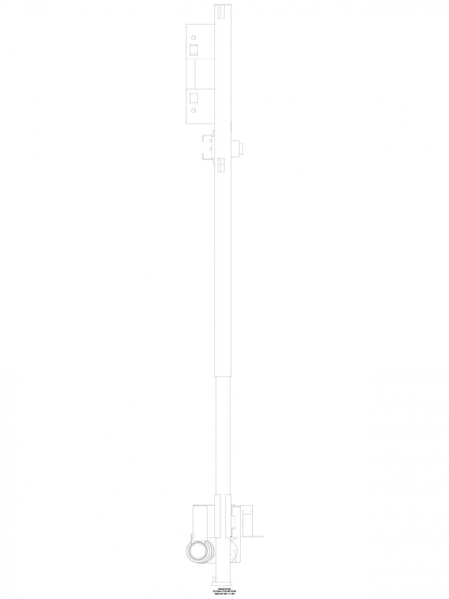 Pagina 1 - CAD-DWG Rigola dus in perete - vedere din profil GEBERIT Detaliu de produs Scurgere in...