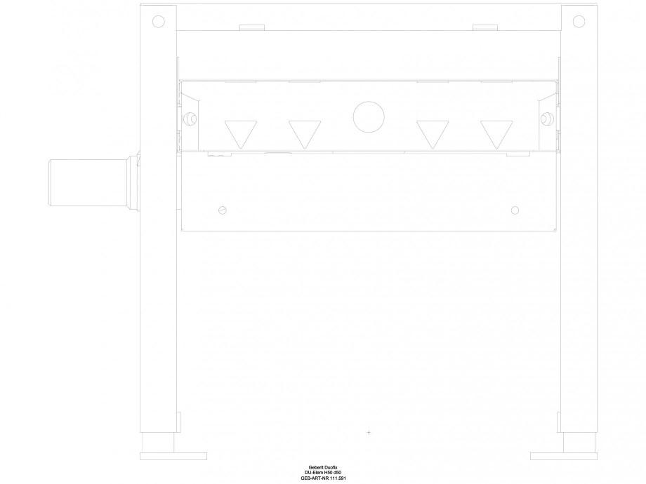 Pagina 1 - CAD-DWG Rigola dus liniara in pardoseala - vedere din fata GEBERIT Detaliu de produs...