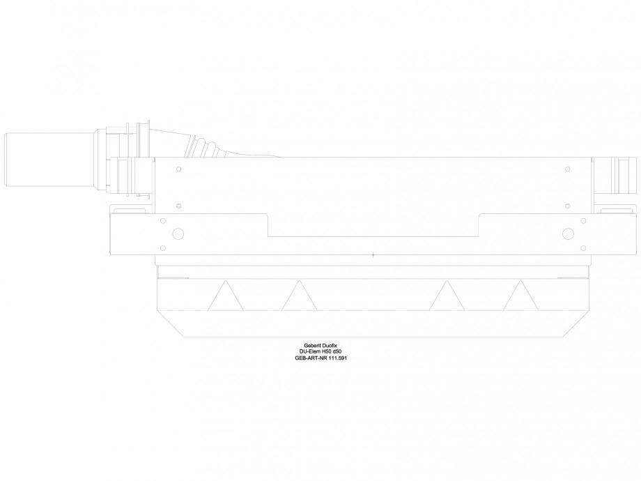Pagina 1 - CAD-DWG Rigola dus liniara in pardoseala - vedere de sus GEBERIT Detaliu de produs...