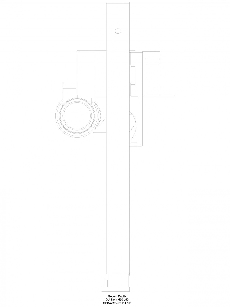 Pagina 1 - CAD-DWG Rigola dus liniara in pardoseala - vedere din profil GEBERIT Detaliu de produs...