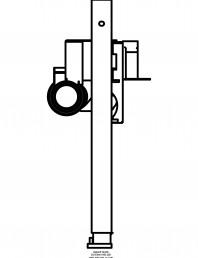 Rigola dus liniara in pardoseala - vedere din profil