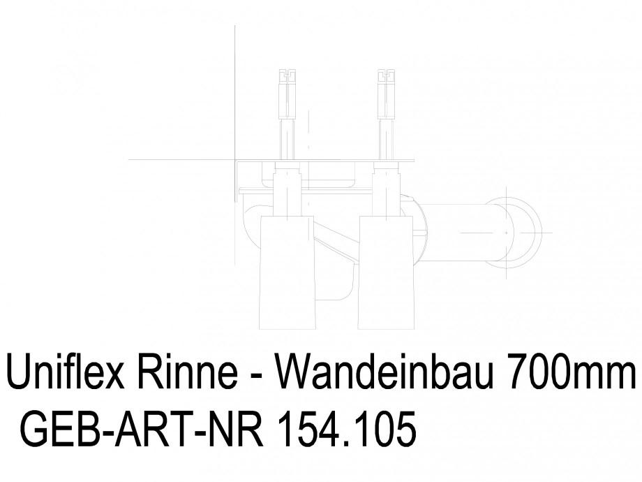 Pagina 1 - CAD-DWG Rigola dus liniara in pardoseala la perete 700 mm, vedere din fata GEBERIT...