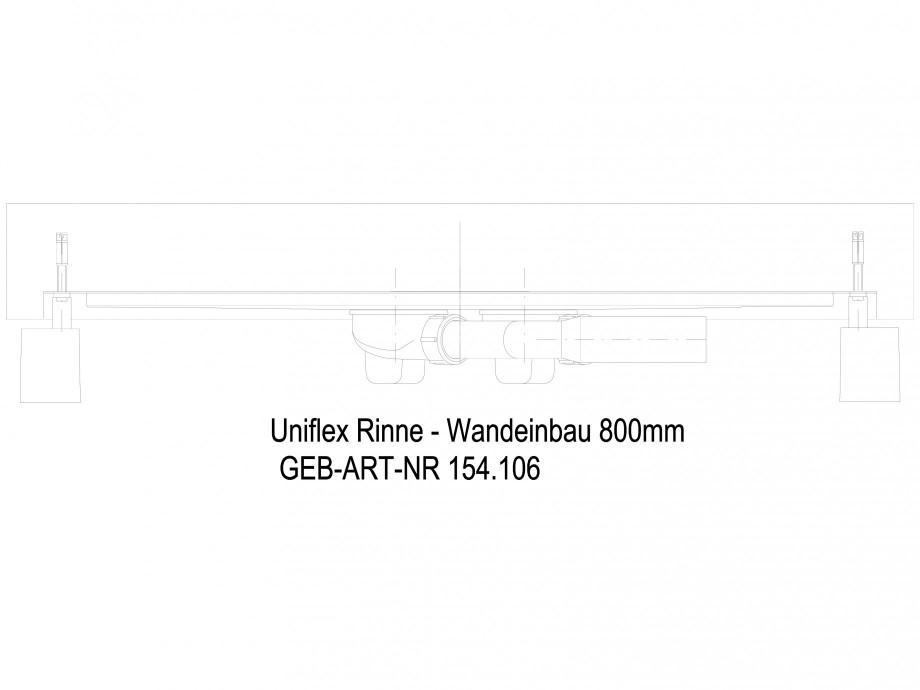 Pagina 1 - CAD-DWG Rigola dus liniara in pardoseala la perete 800 mm, vedere din lateral GEBERIT...