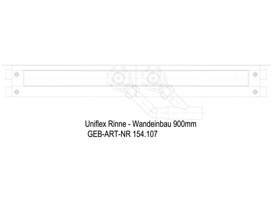 Pagina 1 - CAD-DWG Rigola dus liniara in pardoseala la perete 900 mm, vedere de sus GEBERIT Detaliu ...