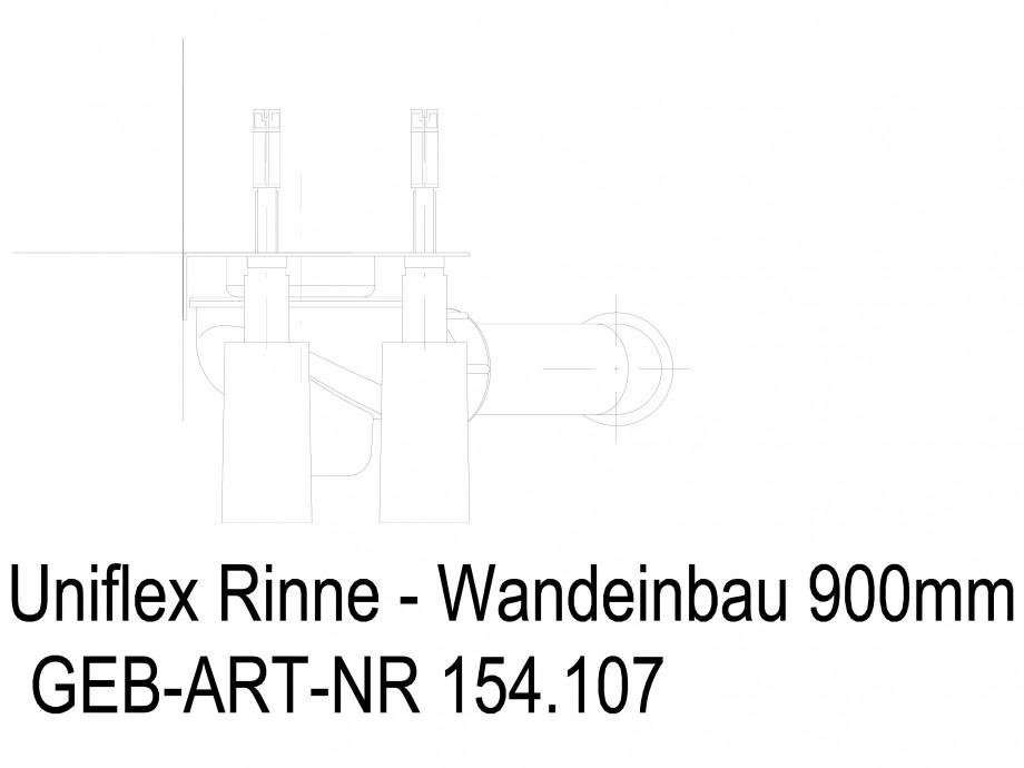 Pagina 1 - CAD-DWG Rigola dus liniara in pardoseala la perete 900 mm, vedere din fata GEBERIT...