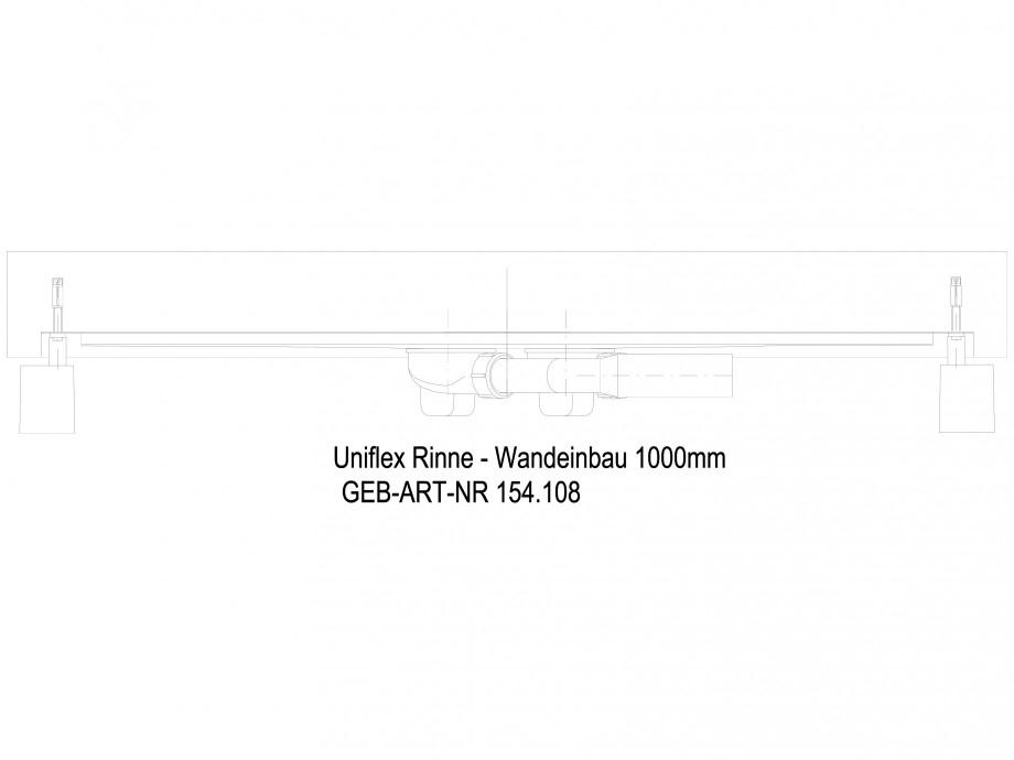 Pagina 1 - CAD-DWG Rigola dus liniara in pardoseala la perete 1000 mm, vedere din lateral GEBERIT...