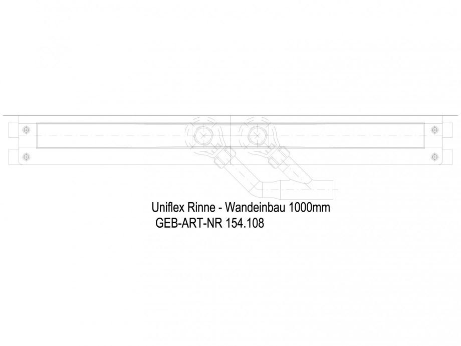 Pagina 1 - CAD-DWG Rigola dus liniara in pardoseala la perete 1000 mm, vedere de sus GEBERIT Detaliu...