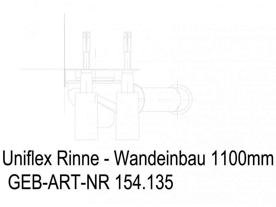 Pagina 1 - CAD-DWG Rigola dus liniara in pardoseala la perete 1100 mm, vedere din fata GEBERIT...
