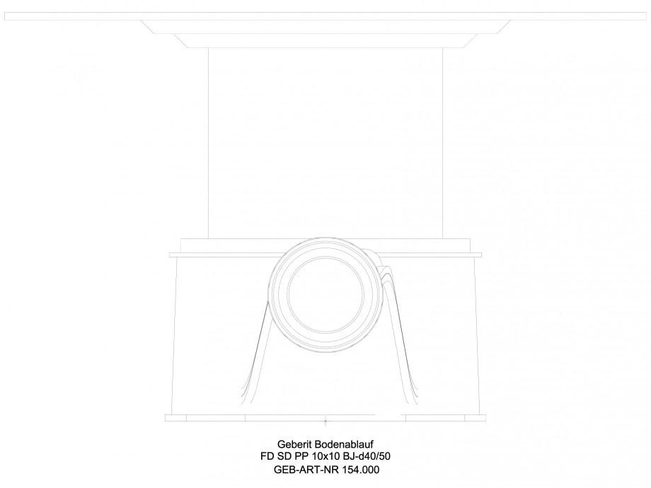 Pagina 1 - CAD-DWG Sifon dus in pardoseala  GEBERIT Detaliu de produs