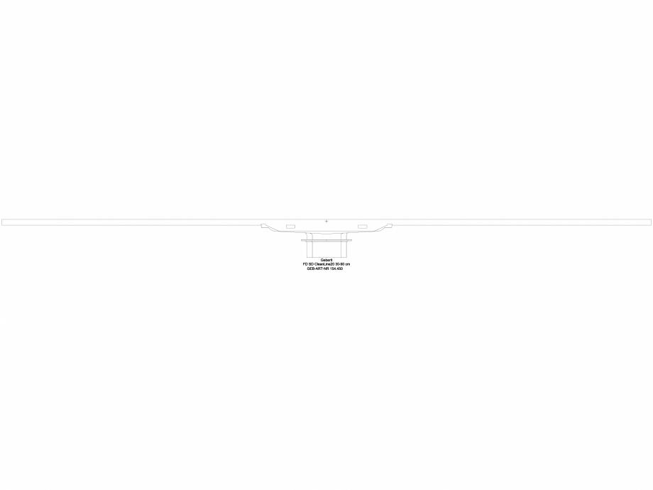 Pagina 1 - CAD-DWG Capac rigola de dus 154.450 GEBERIT Detaliu de produs CleanLine