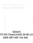 Capac rigola de dus CleanLine 154.450 GEBERIT - CleanLine