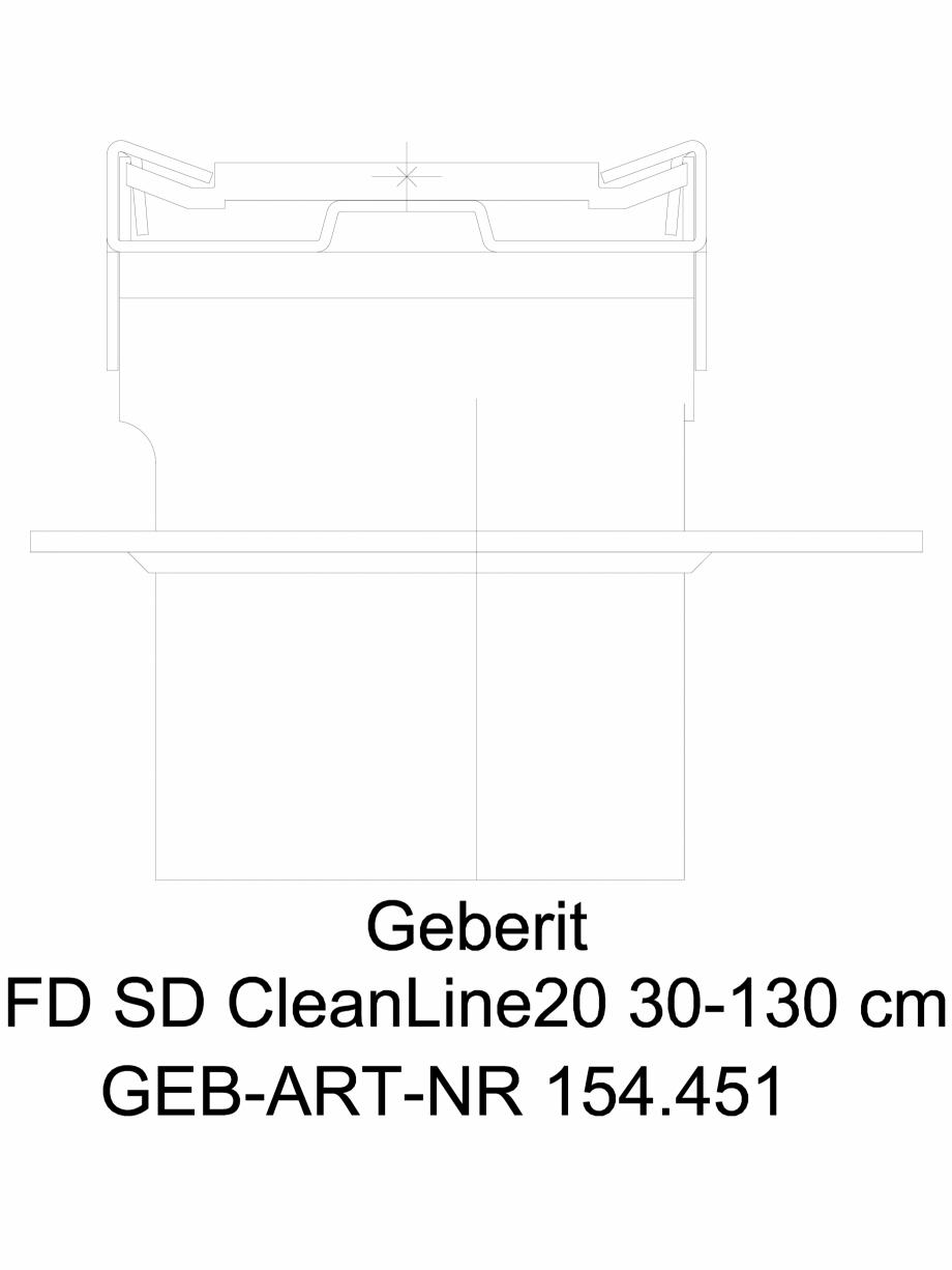 Pagina 1 - CAD-DWG Capac rigola de dus 154.451 GEBERIT Detaliu de produs CleanLine