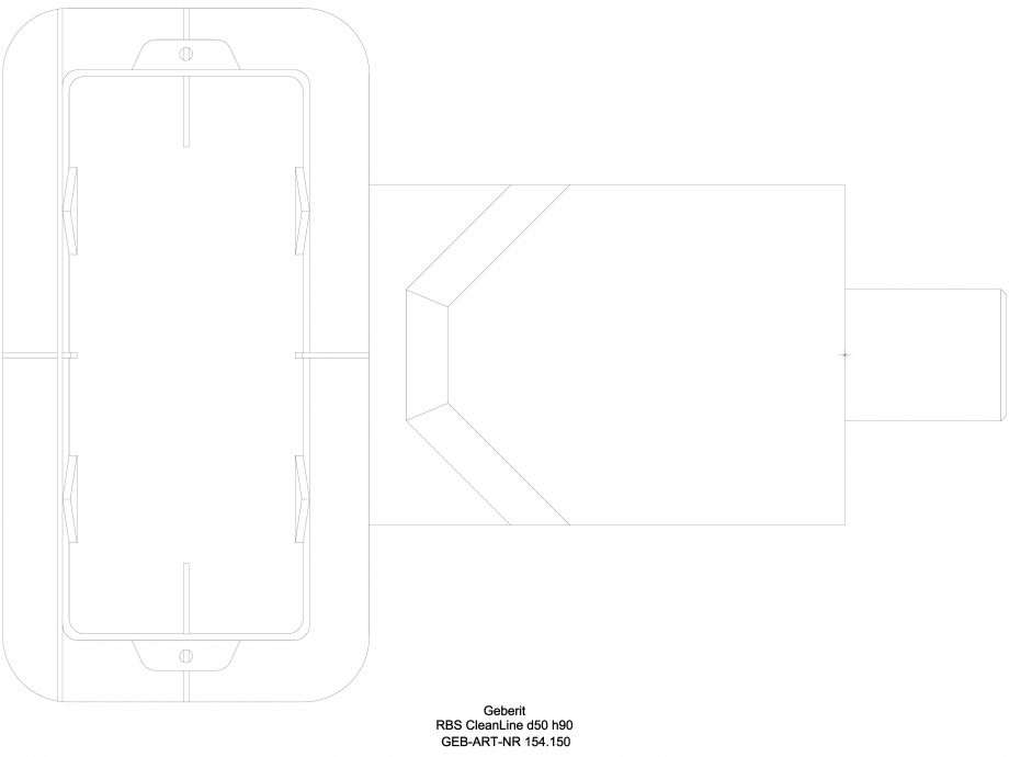 Pagina 1 - CAD-DWG Rigola dus - varianta sapa 90 mm 154.150, vedere de sus GEBERIT Detaliu de produs...