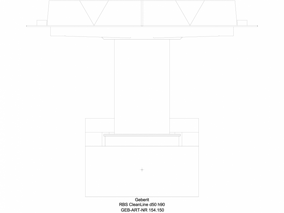 Pagina 1 - CAD-DWG Rigola dus - varianta sapa 90 mm 154.150, vedere din fata GEBERIT Detaliu de...