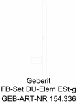 Set gata de instalare Geberit pentru evacuare in perete masca cu finisaj otel inoxidabil cod 154