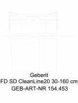 Rigola pentru dus Geberit CleanLine20 cod 154.453.KS.1_L GEBERIT -