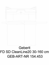Rigola pentru dus Geberit CleanLine20 cod 154.453.KS.1_L