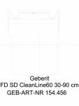 Rigola pentru dus Geberit CleanLine60 cod 154.456.00.1_L GEBERIT -