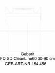 Rigola pentru dus Geberit CleanLine60 cod 154.456.KS.1_L GEBERIT -