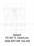 Rigola de dus Geberit CleanLine cu posibilitate de placare cu placi ceramice cod 154 455 00