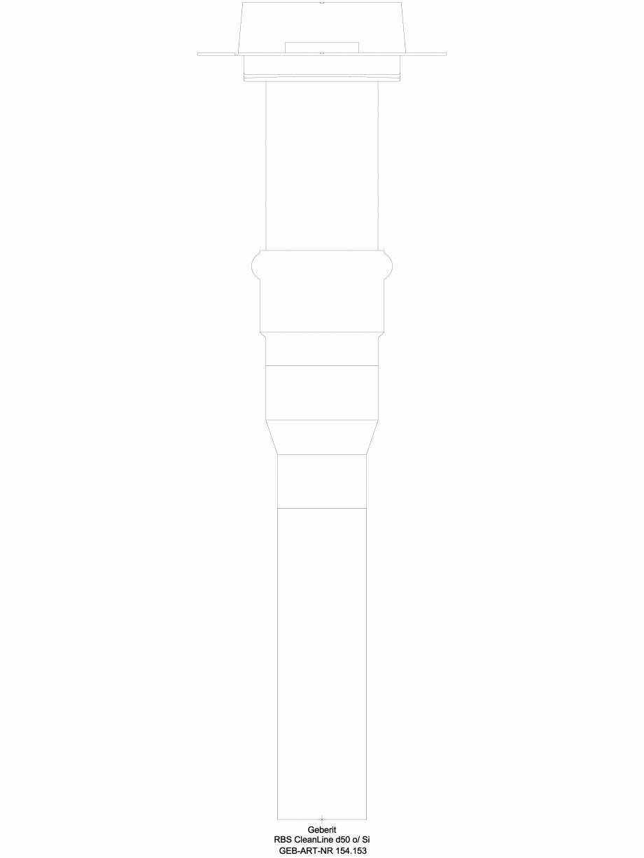 Pagina 1 - CAD-DWG Kit de instalare Geberit pentru rigole pentru duş din seria CleanLine, instalare...