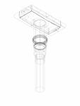 Kit de instalare Geberit pentru rigole pentru duş din seria CleanLine instalare prin traversarea pardoselii cod