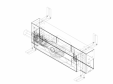 Element de instalare Geberit Kombifix pentru dus cu scurgere in perete cod 457 536 00 1_P