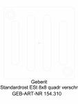 Gratar Geberit cu prindere prin insurubare 8 x 8 cm cod 154 310 00 1_G GEBERIT