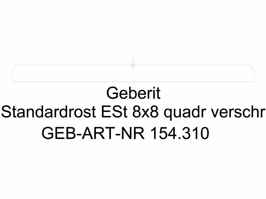 Pagina 1 - CAD-DWG Gratar Geberit cu prindere prin insurubare, 8 x 8 cm cod 154.310.00.1_L GEBERIT...