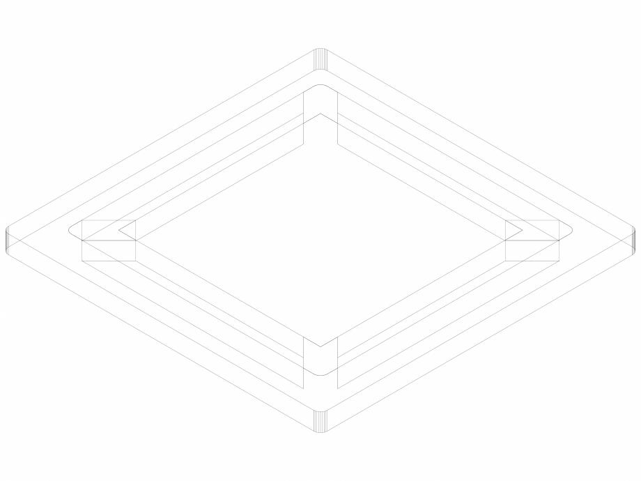Pagina 1 - CAD-DWG Geberit Designrost Square, 8 x 8 cm cod 154.312.00.1_P GEBERIT Detaliu de produs ...
