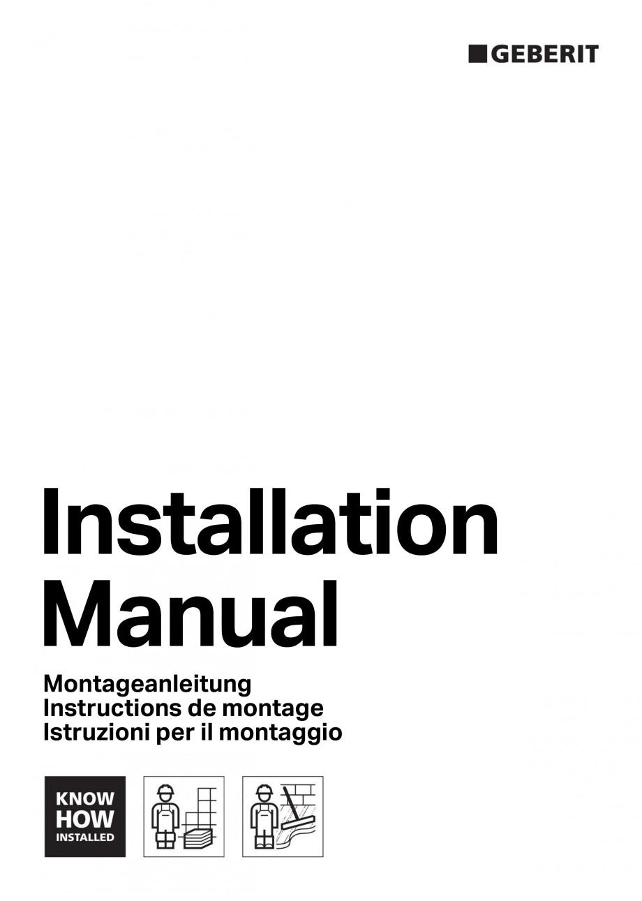 Pagina 1 - Capac rigola de scurgere in perete pentru dus GEBERIT Instructiuni montaj, utilizare...