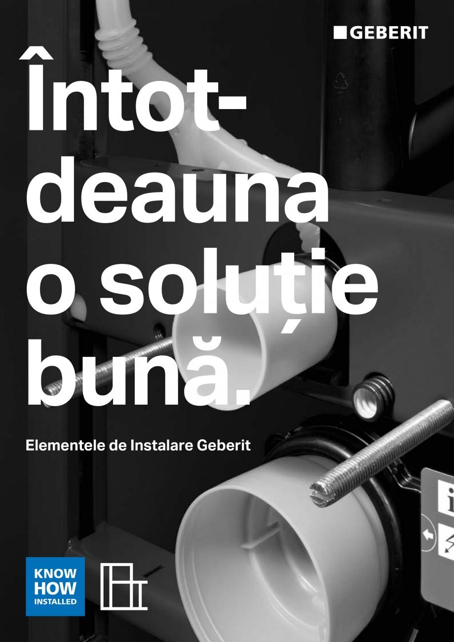 Pagina 1 - Elemente de instalare GEBERIT Scurgere in perete Catalog, brosura Romana Întotdeauna o...