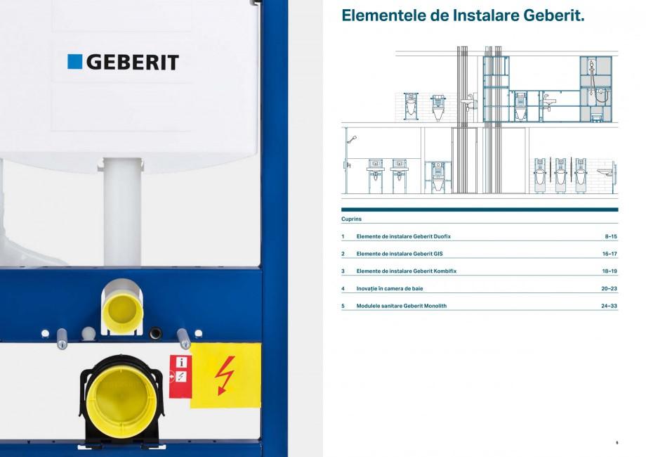 Pagina 3 - Elemente de instalare GEBERIT Scurgere in perete Catalog, brosura Romana re, două volume...