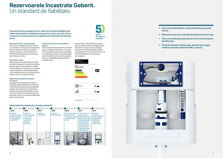 Pagina 4 - Elemente de instalare GEBERIT Scurgere in perete Catalog, brosura Romana e esențiale...