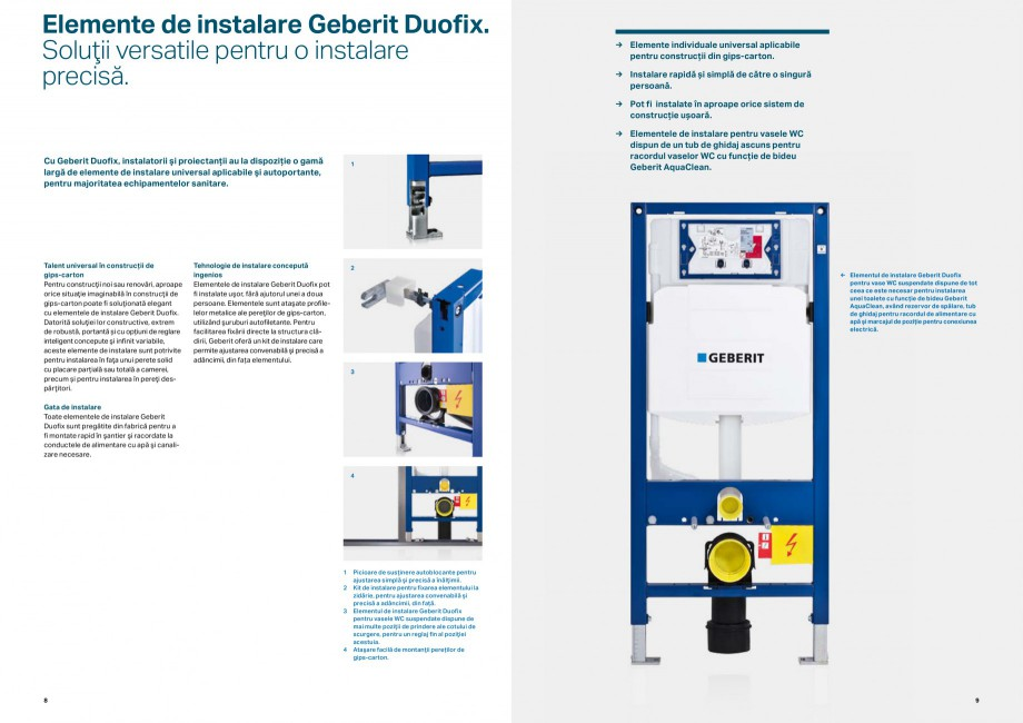 Pagina 5 - Elemente de instalare GEBERIT Scurgere in perete Catalog, brosura Romana ividuale...