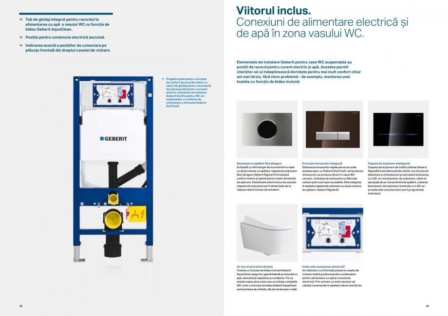 Pagina 7 - Elemente de instalare GEBERIT Scurgere in perete Catalog, brosura Romana  şantier şi...