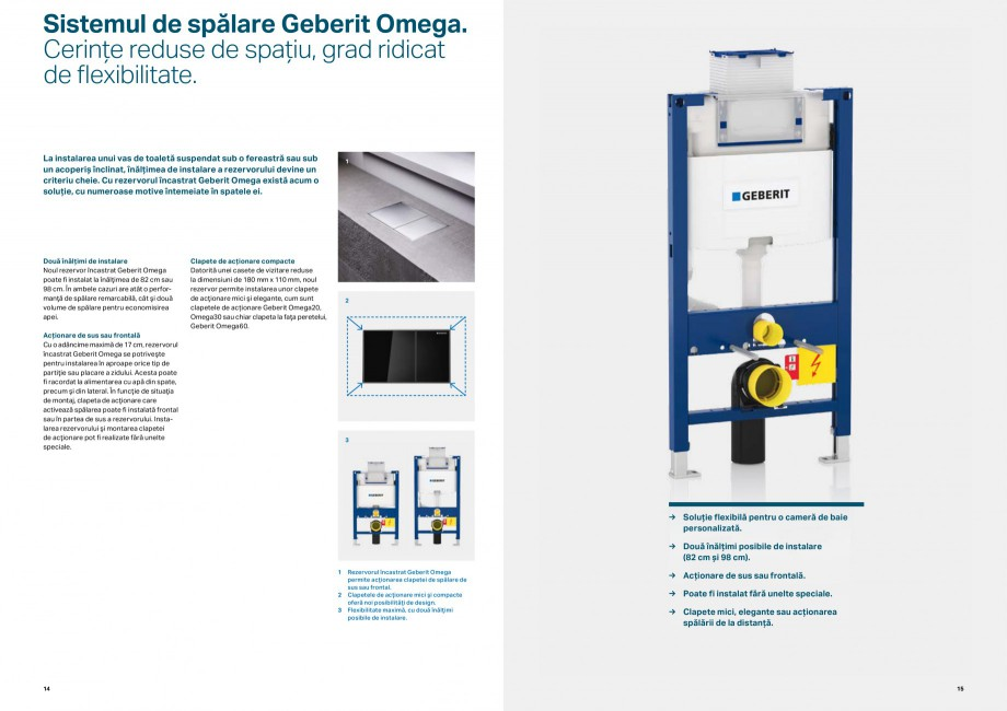 Pagina 8 - Elemente de instalare GEBERIT Scurgere in perete Catalog, brosura Romana client sau să...