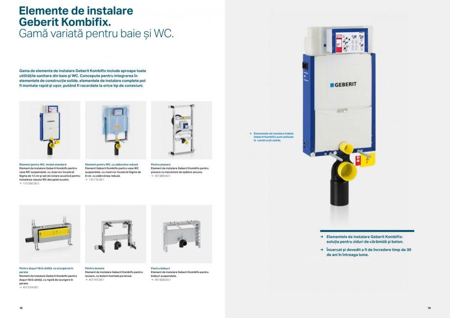 Pagina 10 - Elemente de instalare GEBERIT Scurgere in perete Catalog, brosura Romana  și apă....