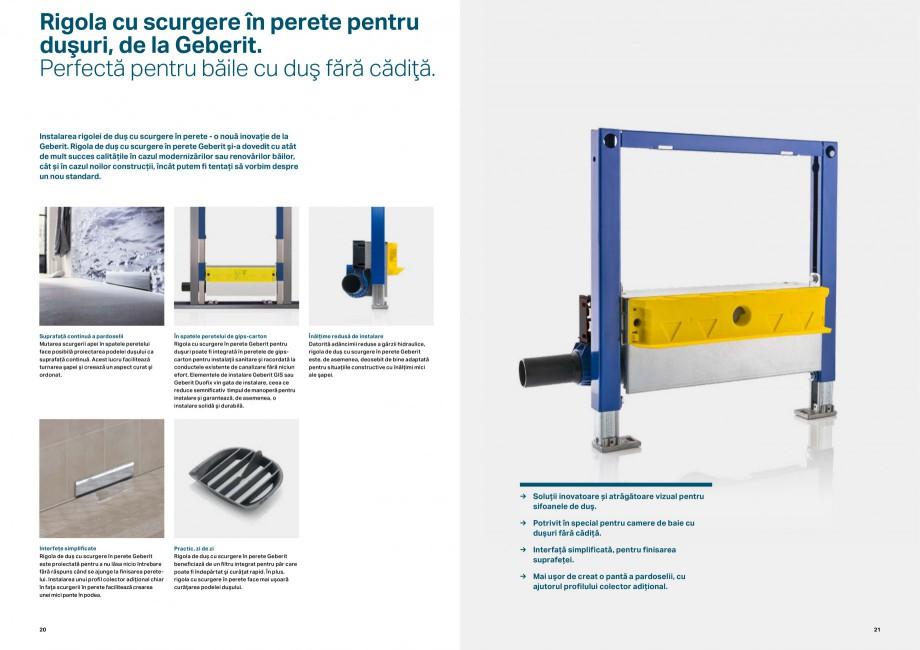 Pagina 11 - Elemente de instalare GEBERIT Scurgere in perete Catalog, brosura Romana  acestea apar: ...