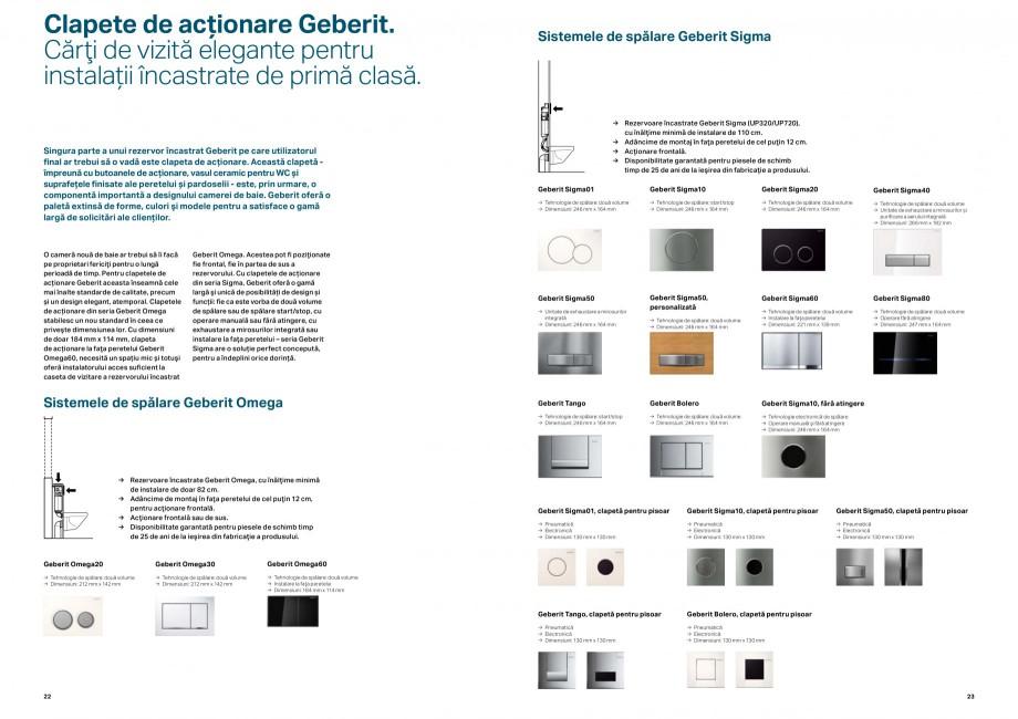 Pagina 12 - Elemente de instalare GEBERIT Scurgere in perete Catalog, brosura Romana eduse de...
