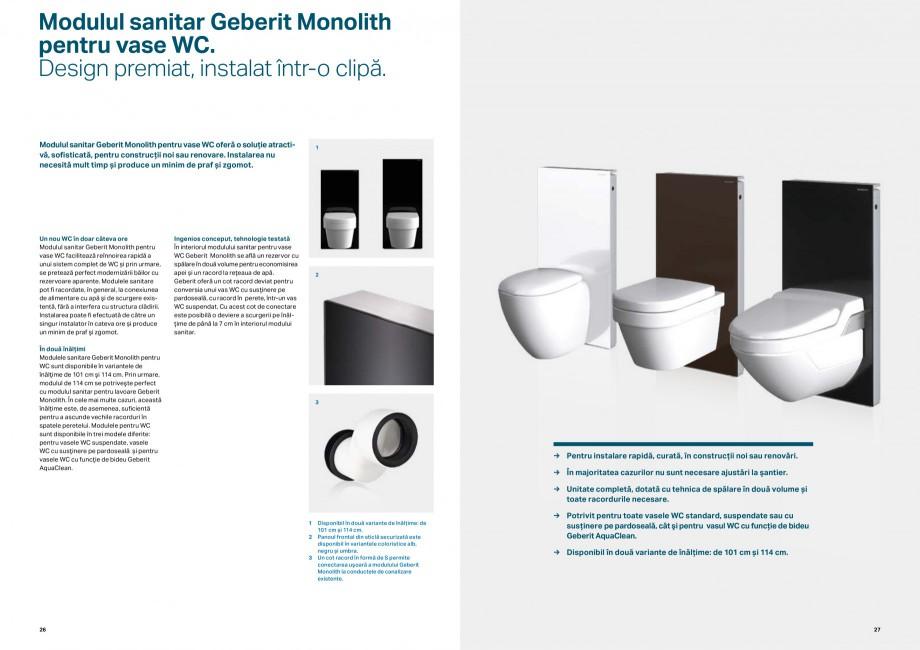 Pagina 14 - Elemente de instalare GEBERIT Scurgere in perete Catalog, brosura Romana erit GIS....