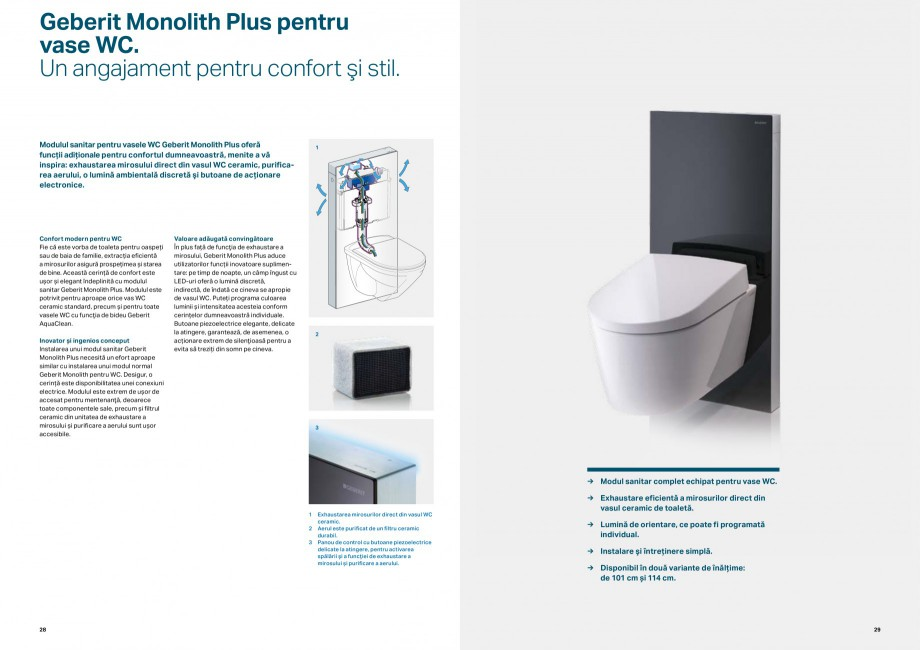 Pagina 15 - Elemente de instalare GEBERIT Scurgere in perete Catalog, brosura Romana plet....