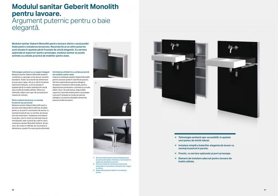 Pagina 16 - Elemente de instalare GEBERIT Scurgere in perete Catalog, brosura Romana le şi...