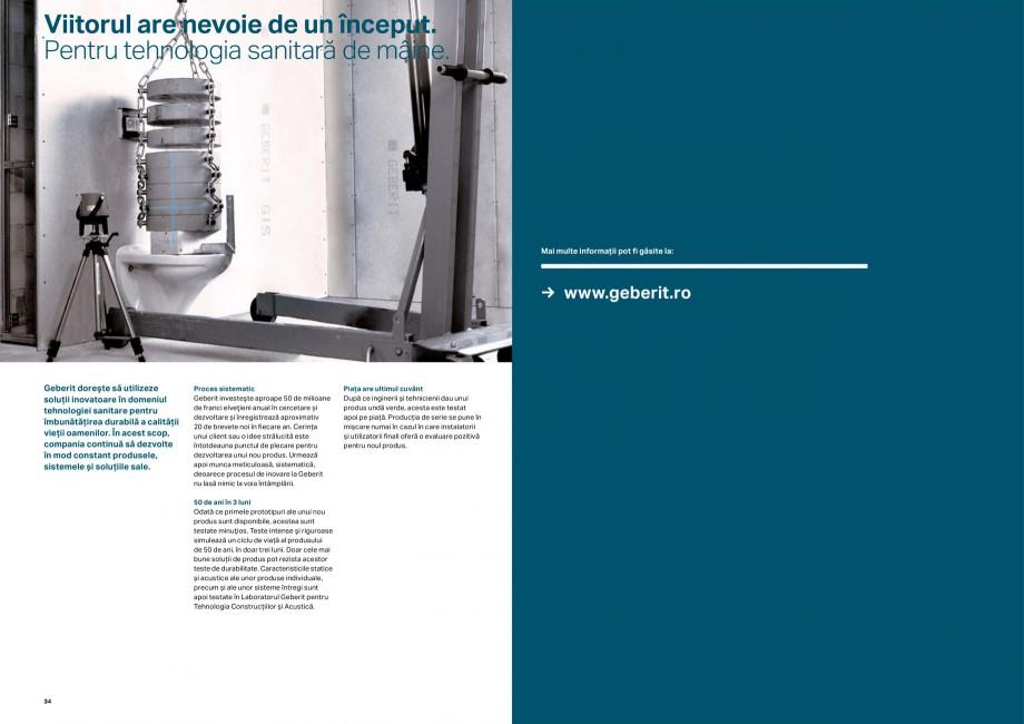 Pagina 18 - Elemente de instalare GEBERIT Scurgere in perete Catalog, brosura Romana 457.608.00.1 ...