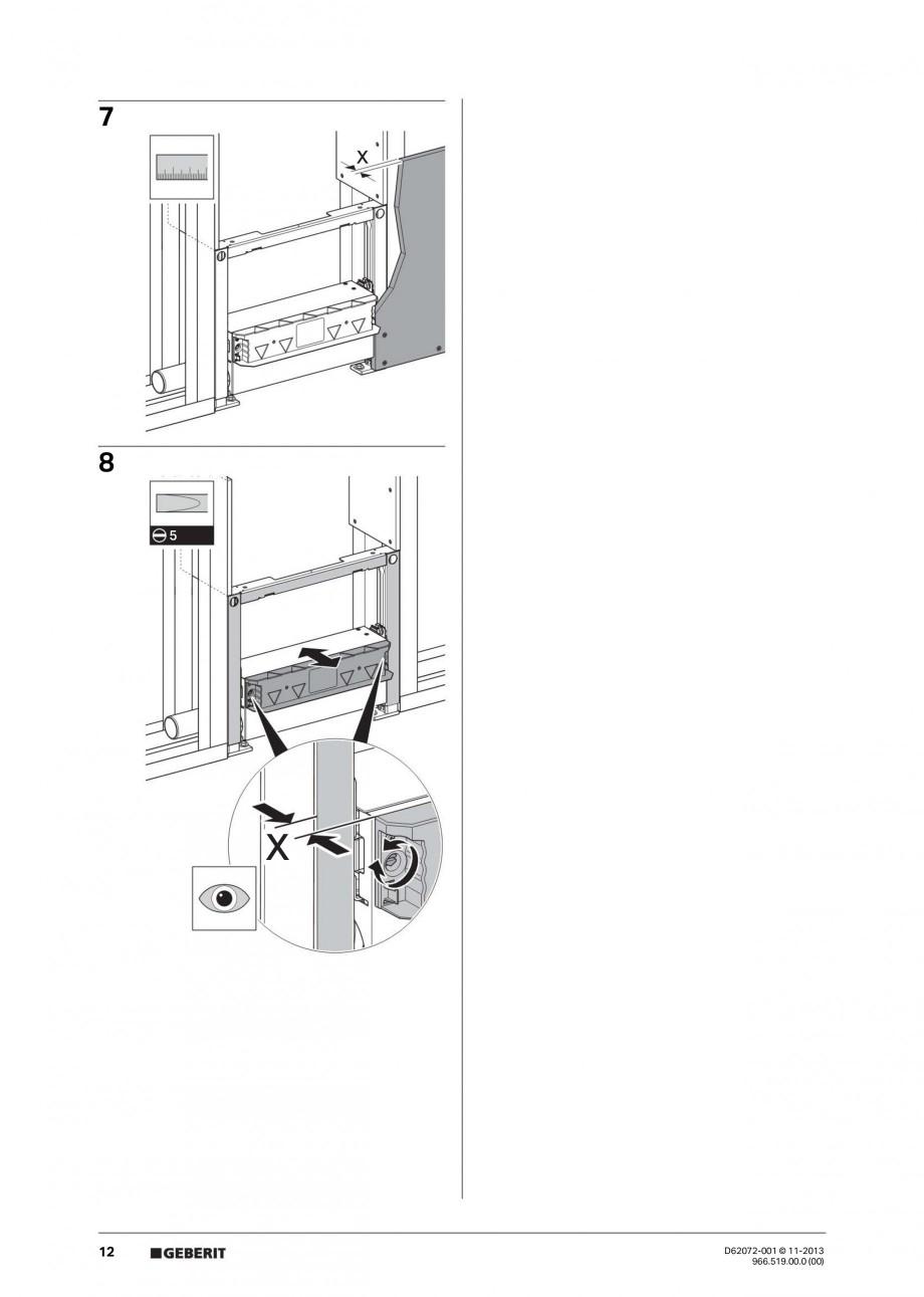 Pagina 12 - Rigola de scurgere in perete pentru dus GEBERIT Instructiuni montaj, utilizare Engleza, ...