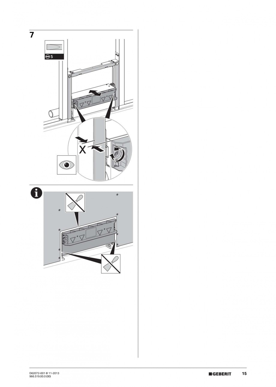 Pagina 15 - Rigola de scurgere in perete pentru dus GEBERIT Instructiuni montaj, utilizare Engleza, ...