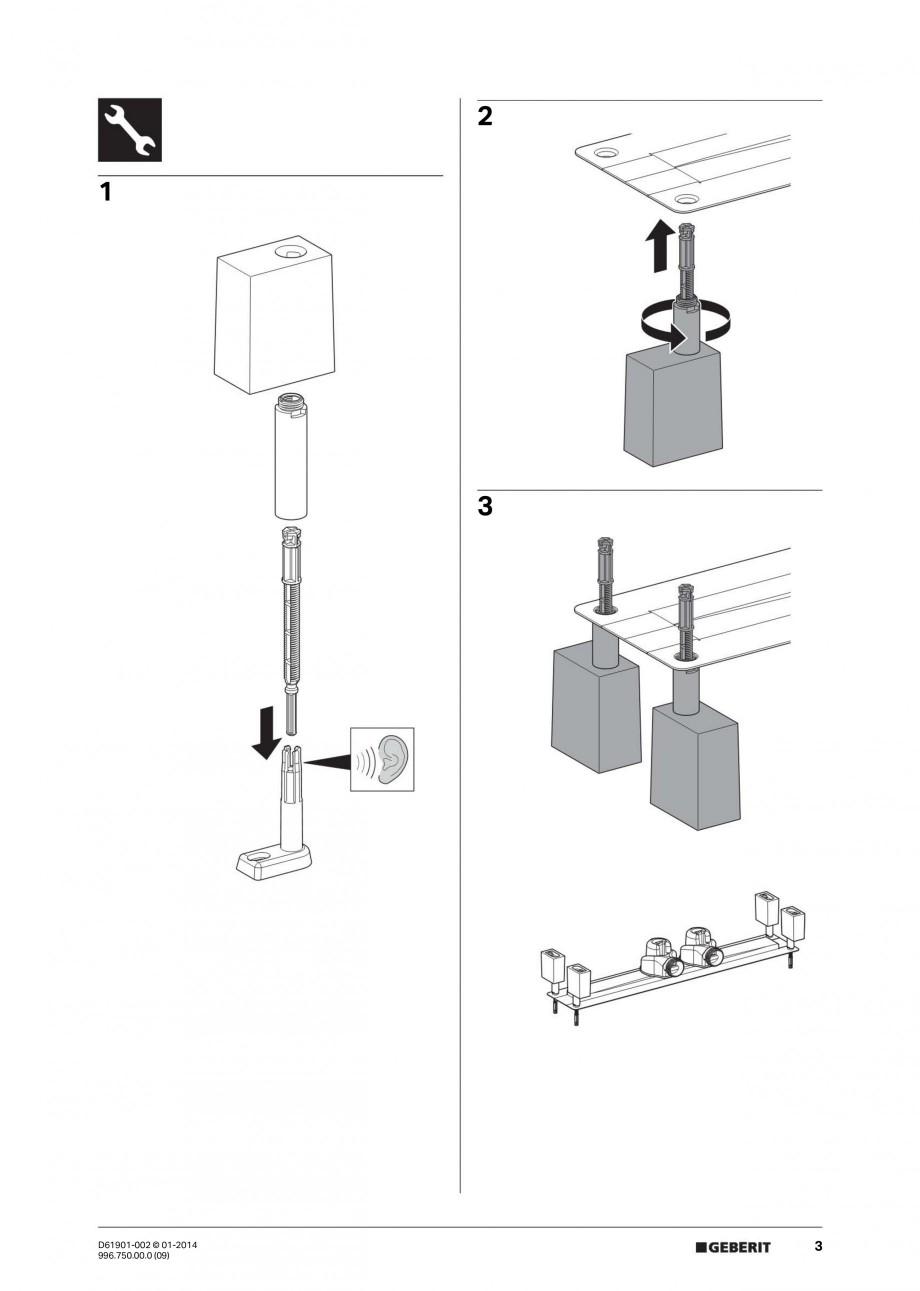 Pagina 3 - Rigola liniara pentru dus - montaj pe mijloc GEBERIT Scurgere in pardoseala Instructiuni ...